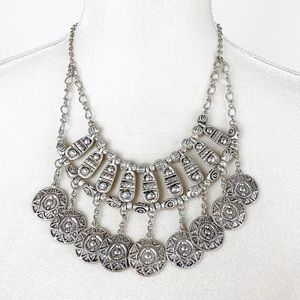 Karma Bella Coin Necklace Boho Silver-Toned Z724